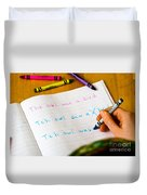 Dyslexia Testing Duvet Cover by Photo Researchers Inc