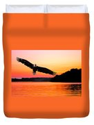 Eagle At Break Of Dawn Duvet Cover