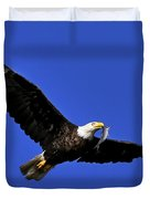Eagle Fish In Mouth Duvet Cover