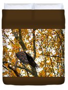 Eagle In Autumn Duvet Cover
