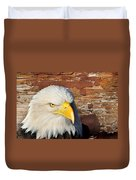 Eagle On Brick Duvet Cover