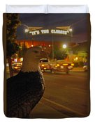 Eagle Watching Grants Pass Night Duvet Cover