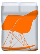 Eames Rocking Chair Orange Duvet Cover