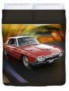 Early 60s Red Thunderbird Duvet Cover