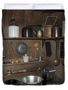 Early American Utensils Duvet Cover