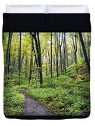 Early Autumn Hike Duvet Cover