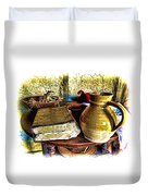 Early Colonial Still Life Duvet Cover