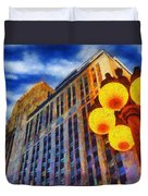 Early Evening Lights Duvet Cover