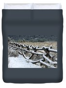 Early Fall Snow Duvet Cover