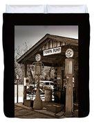 Early Gas Station Duvet Cover by Douglas Barnett