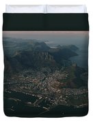 Early Morning Aerial View Of Cape Town Duvet Cover