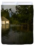 Early Morning Clam Lake Channel Duvet Cover