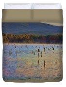 Early Morning Color Of Lake Wilhelmina-arkansas Duvet Cover