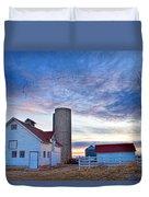 Early Morning On The Farm Duvet Cover