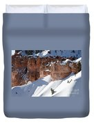Early Morning Snow In Bryce Canyon Duvet Cover