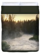Early Morning View Of Crescent Creek Duvet Cover