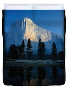 Early Morning View Of El Capitan Duvet Cover