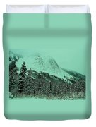 Early Snow In The Mountains  Duvet Cover