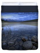 Early Summer Morning On Patricia Lake Duvet Cover