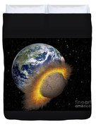 Earth Colliding With A Mars-sized Duvet Cover