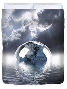 Earth Globe Reflection Duvet Cover