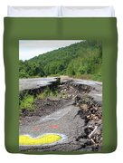 Earth Opening Road Closing Duvet Cover