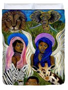 Earthangels Abeni And Adesina From Africa Duvet Cover