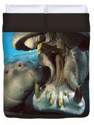 East African River Hippopotamus Duvet Cover