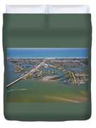 East Coast Aerial Duvet Cover