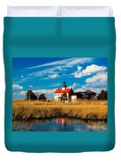 East Point Lighthouse Reflection Duvet Cover