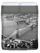 East River Bridges New York Duvet Cover