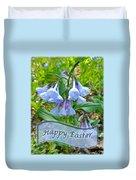 Easter Card - Virginia Bluebells Duvet Cover