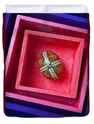 Easter Egg In Pink Box Duvet Cover