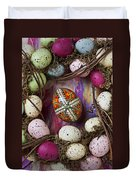Easter Egg With Wreath Duvet Cover