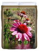 Echinacea In Water Duvet Cover