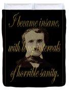 Edgar Allan Poe 2 Duvet Cover