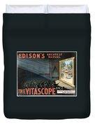 Edisons Vitascope, 1896 Duvet Cover