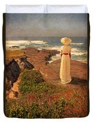 Edwardian Lady By The Sea Duvet Cover