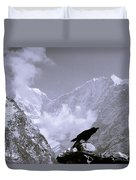 Eerie Himalayas Duvet Cover