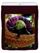 Eggplants From Sicily Duvet Cover