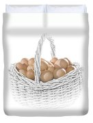 Eggs In A Woven Basket No.0064 Duvet Cover