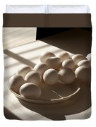 Eggs Lit Through Venetian Blinds Duvet Cover