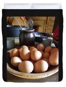 Eggs On The Table Duvet Cover