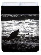 Egret Silhouette  Duvet Cover