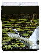 Egret Take Off Duvet Cover
