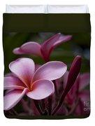 Eia Ku'u Lei Aloha Kula - Pua Melia - Pink Tropical Plumeria Maui Hawaii Duvet Cover