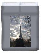 Eiffel In The Morning Duvet Cover