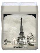 Eiffel Tower, 1900 Duvet Cover