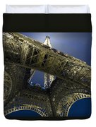 Eiffel Tower At Night,directly Below Duvet Cover