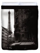 Eiffel Tower Black And White 2 Duvet Cover